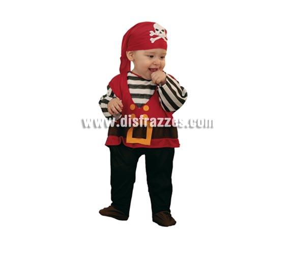 Disfraz barato de Pirata Bebé para Carnaval. Talla de 6 a 12 meses. Incluye pañuelo y mono (es el disfraz).