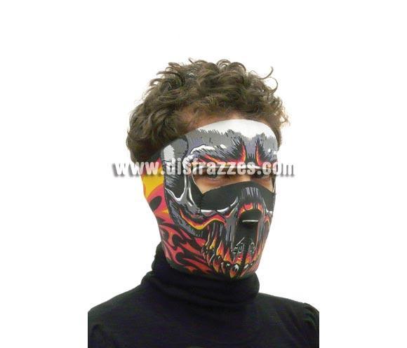 Careta o Máscara de Monstruo de Fuego de tela para Halloween.