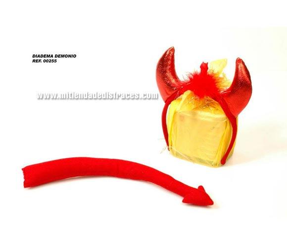 Complemento demonio con pene. Incluye diadema y rabo. Perfecto para Despedidas de Soltero o Soltera.
