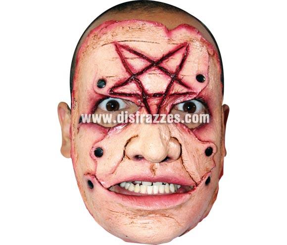 Máscara (11) de media cara de Asesino en serie de látex. Alta calidad. Fabricada en látex artesanalmente por una empresa que realiza efectos especiales para Hollywood. Máscara o Careta de Halloween.