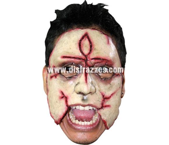 Máscara (12) de media cara de Asesino de látex. Alta calidad. Fabricada en látex artesanalmente por una empresa que realiza efectos especiales para Hollywood. Máscara o Careta de Halloween.