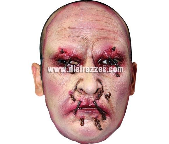 Máscara (13) de media cara de Asesino de látex. Alta calidad. Fabricada en látex artesanalmente por una empresa que realiza efectos especiales para Hollywood. Máscara o Careta de Halloween.