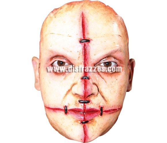 Máscara (14) de media cara de Asesino en serie de látex. Alta calidad. Fabricada en látex artesanalmente por una empresa que realiza efectos especiales para Hollywood. Máscara o Careta de Halloween.
