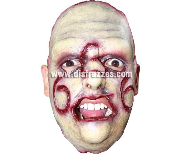 Máscara (15) de Media Cara Asesino en Serie para Halloween. Alta calidad. Fabricada en látex artesanalmente por una empresa que realiza efectos especiales para Hollywood. Máscara o Careta de Halloween.