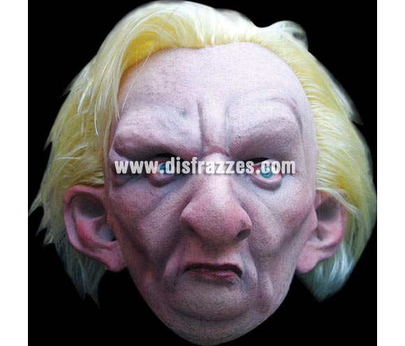 Máscara de Luke Blond para Halloween. Alta calidad. Fabricada en látex artesanalmente por una empresa que realiza efectos especiales para Hollywood. Máscara o Careta de Halloween.