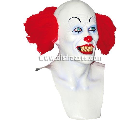 Máscara de Pennywise El Payaso bailarín para Halloween. Fabricada en látex artesanalmente por una empresa que realiza efectos especiales para Hollywood. Máscara o Careta de Halloween.