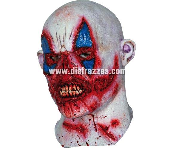 Máscara de Payaso Zombie para Halloween. Fabricada en látex artesanalmente por una empresa que realiza efectos especiales para Hollywood. Máscara o Careta de Halloween.