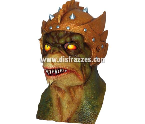 Máscara de Reptilian látex para Halloween. Alta calidad. Fabricada en látex artesanalmente por una empresa que realiza efectos especiales para Hollywood. Máscara o Careta de Halloween.