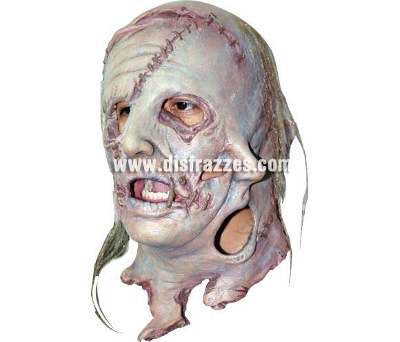 Máscara de Leatherface Cara de cuero para Halloween. Fabricada en látex artesanalmente por una empresa que realiza efectos especiales para Hollywood. Máscara o Careta de Halloween.