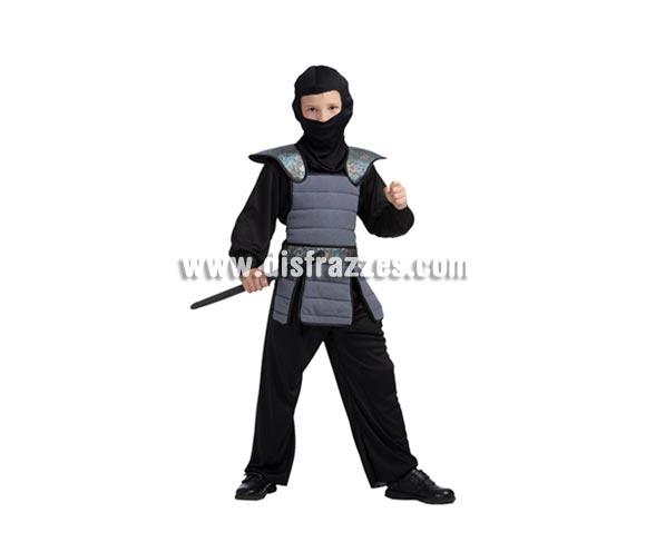 Disfraz barato de Samurai niño para Carnaval. Talla de 10 a 12 años. Espada NO incluida, podrás verla en la sección Complementos. Disfraz de Ninja para niño.