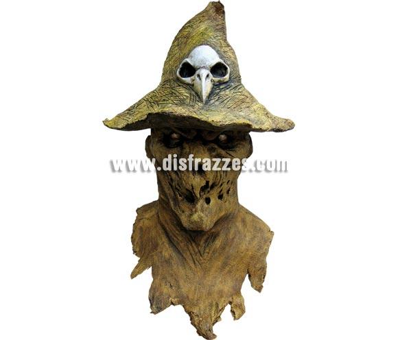 Máscara de Espantapájaros maligno para Halloween. Máscara de Evil Scarecrow fabricada en látex artesanalmente por una empresa que realiza efectos especiales para Hollywood. Máscara o Careta de Halloween.