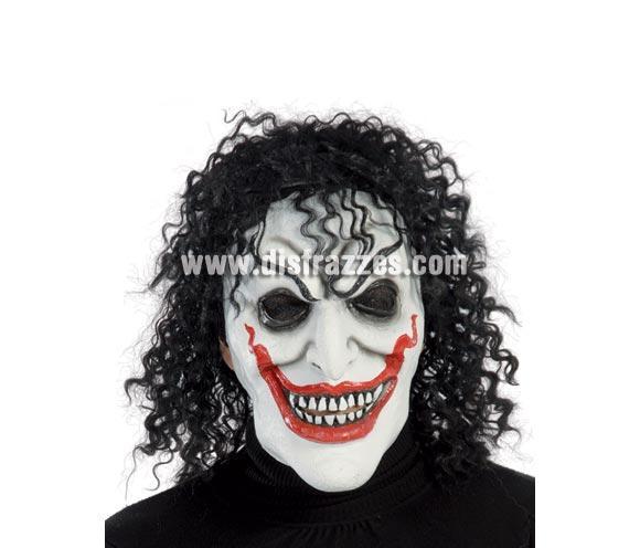 Careta o Máscara de Joker con pelo para Halloween.