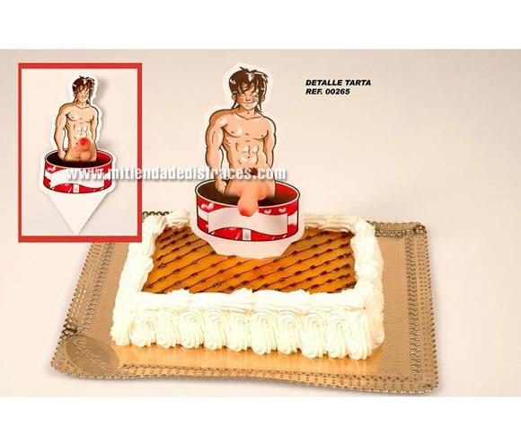 Detalle tarta con pene. Perfecto para Despedidas de Soltero o Soltera.