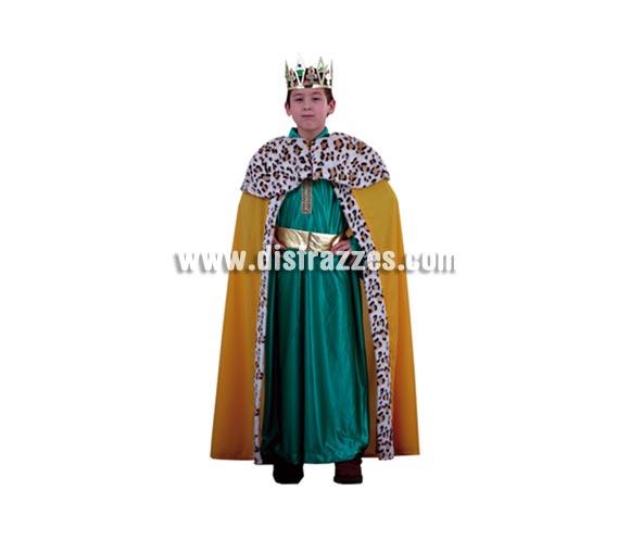 Disfraz de rey mago azul lujo barato para nios talla de 10 for Lujo barato