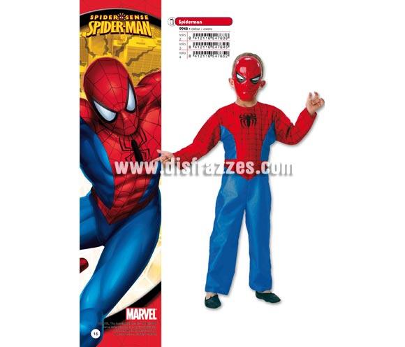 Disfraz de Spiderman infantil para Carnaval. Disponible en varias tallas. Incluye disfraz y careta. Presentación en percha y bolsa. Disfraz con licencia MARVEL perfecto como regalo. Éste traje es perfecto para Carnaval y como regalo en Navidad, en Reyes Magos, para un Cumpleaños o en cualquier ocasión del año. Con éste disfraz harás un regalo diferente y que seguro que a los peques les encantará y hará que desarrollen su imaginación y que jueguen haciendo valer su fantasía.  ¡¡Compra tu disfraz para Carnaval o para regalar en Navidad o en Reyes Magos en nuestra tienda de disfraces, será divertido y quedarás muy bien!!