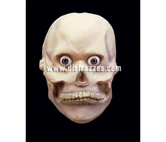 Careta de Calavera de cabeza entera para Halloween. Ojos NO incluidos. Máscara o Careta de Halloween.