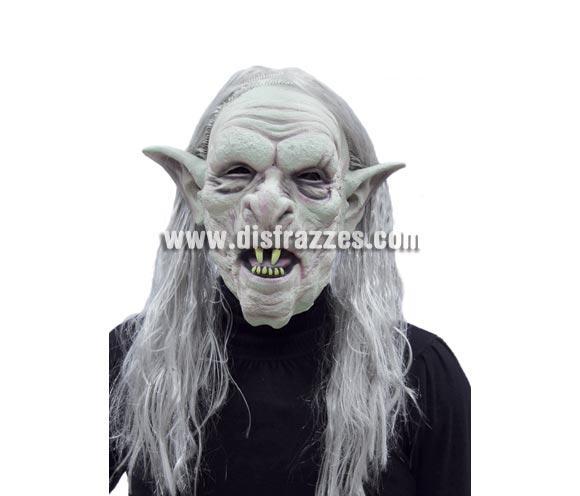 Careta o Máscara de Monstruo Troll con pelo para Halloween.