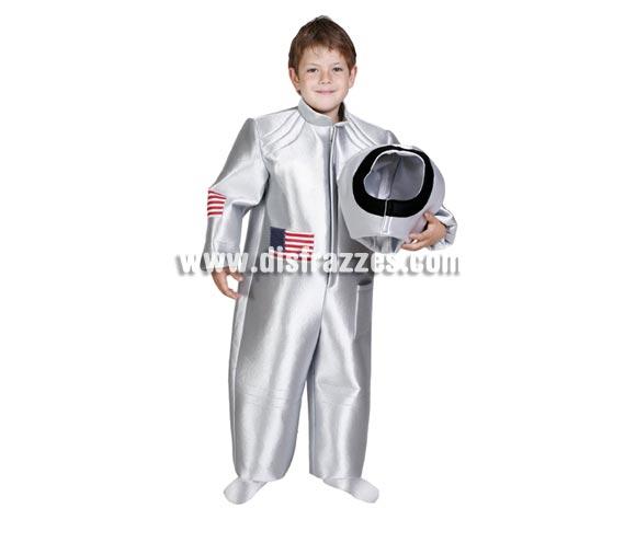 Disfraz de Astronauta infantil. Alta calidad. Hecho en España. Disponible en varias tallas. Incluye mono y casco de tela.