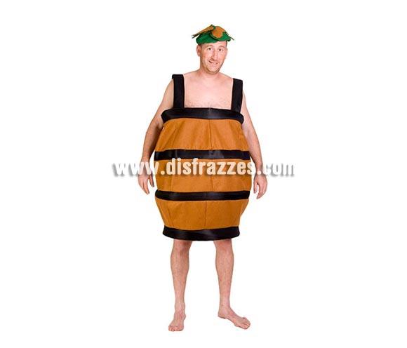 Disfraz de Tonel adulto para Carnaval. Alta calidad. Hecho en España. Talla Universal adultos. Incluye traje y gorro.