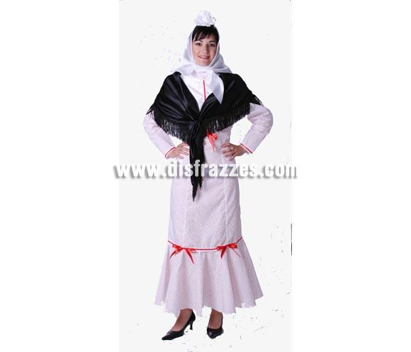 Disfraz de Madrileña o Chulapa adulta para la Feria de San Isidro. Alta calidad. Hecho en España. Disponible en varias tallas. Flor NO incluida, podrás verla en la sección Complementos. Éste disfraz de Chulapa es ideal para celebrar las Fiestas o Ferias Madrileñas.