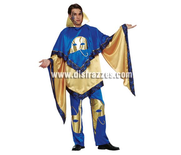 Disfraz de Mister Venecia Oro. Talla 54. Incluye chaqueta de manga larga + pantalón.