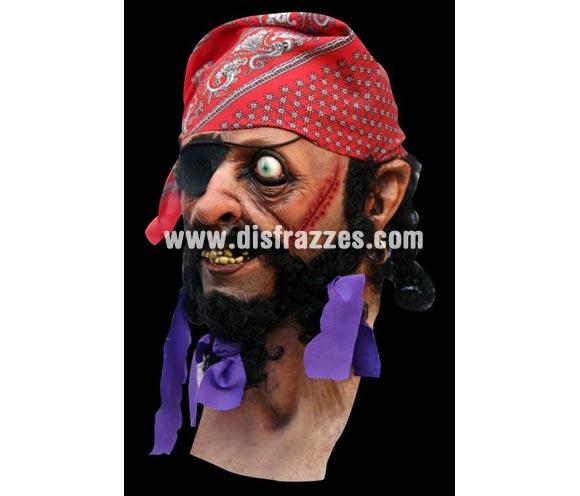 Máscara del Pirata Deadeye Badfish. Máscara de Pirata Ojo Muerto. Alta calidad. Fabricada en látex artesanalmente por una empresa que realiza efectos especiales para Hollywood.