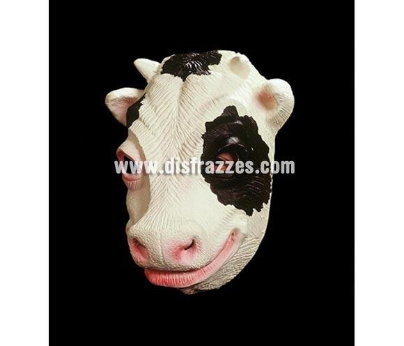Careta de Vaca de media cabeza.  ¡¡Compra tu careta o tu máscara en nuestra tienda de disfraces, será divertido!!
