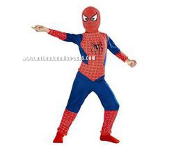Disfraz de Spiderman Clásic infantil. Talla de 7 a 9 años. Incluye disfraz y máscara. Disfraz con licencia ideal como regalo en Reyes o Papa Noel.
