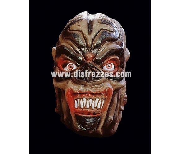 Careta o máscara de Monstruo Marrón para Halloween. Máscara o Careta de Halloween ideal para ir de Fiesta la Noche de las Brujas.
