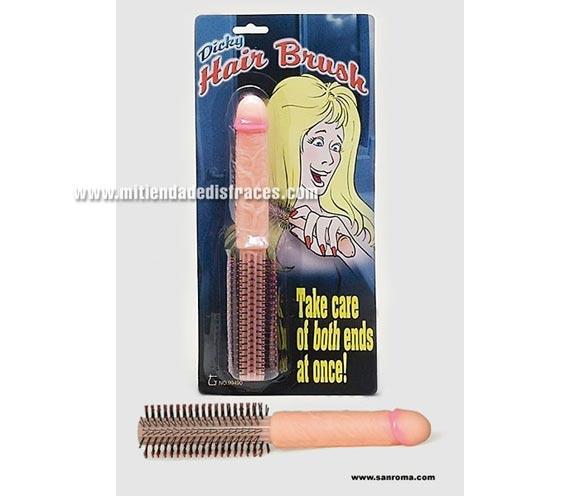 Cepillo para cabello pene.
