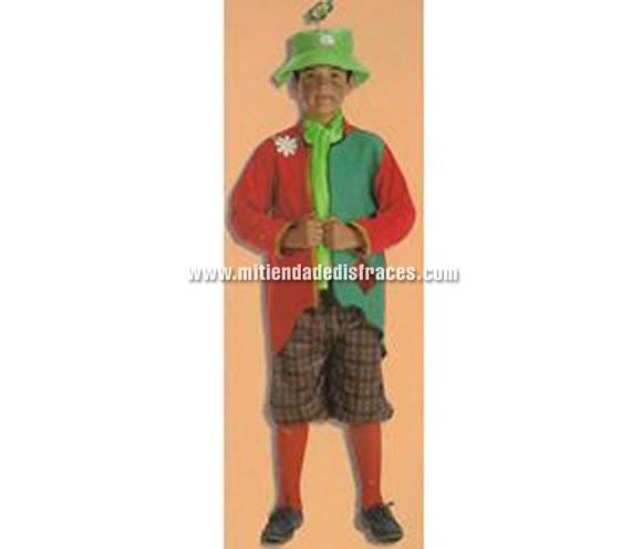 Disfraz de Mendigo talla de 3 a 5 años. Incluye chaqueta, pantalón, pañuelo, gorro y calcetines.