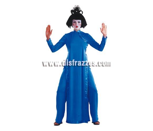 Disfraz de Saigon azul para mujer. Talla standar. Incluye vestido y pantalón. Disfraz de China o Gheisa para chicas.