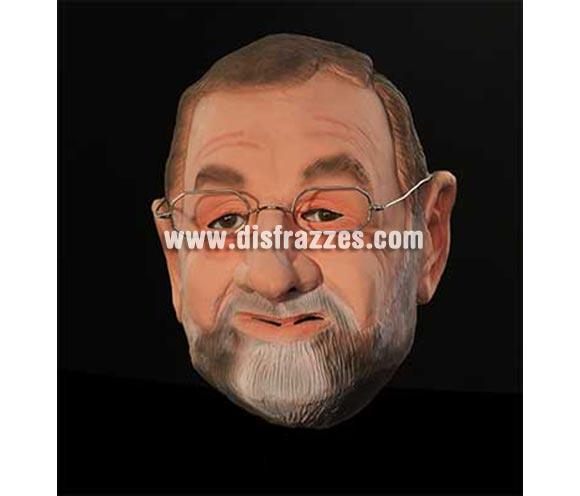 Careta de Rajoy. Incluye las gafas. Cabeza entera.