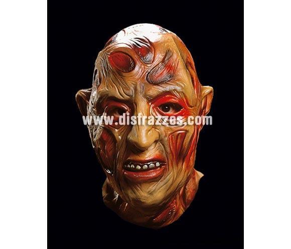 Careta o máscara de Monstruo con músculos de la cara para Halloween. ¡¡Hay que ver cómo se parece a Freddy Krueger!!