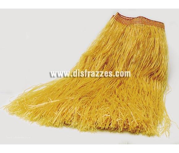 Falda Hawaiana amarilla de rafia.  Ideal para Fiestas Hawaianas. Es como la de la imagen pero de color amarillo, el proveedor no nos facilita foto en ese color, sólo en color paja.