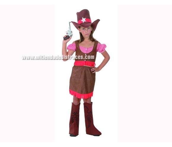 Disfraz barato de Cowgirl 7-9 años para niña