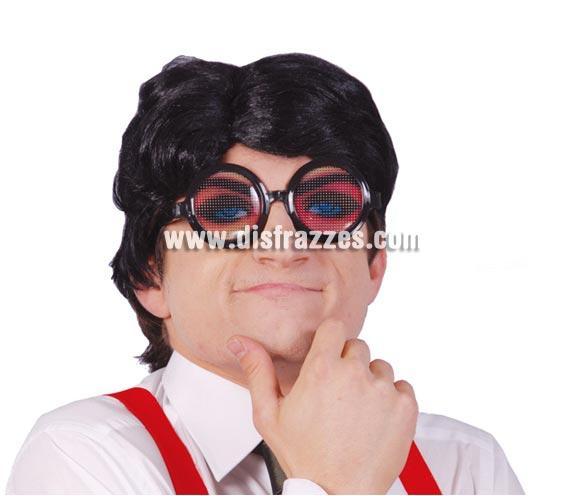 Gafas ojos. Son muy simpáticas y graciosas. Se ve a través de unos pequeños agujeritos que tienen las lentes.
