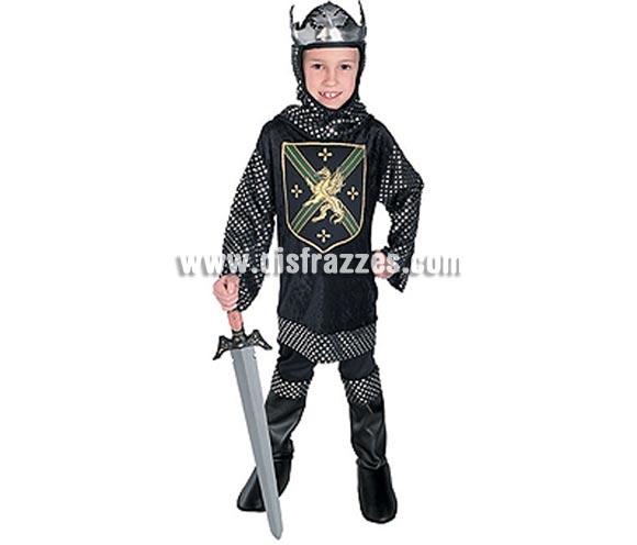 Disfraz de Rey Guerrero Medieval infantil. Talla de 5 a 7 años. Incluye túnica con cubrebotas y corona. Espada NO incluida, podrás ver espadas en la Sección Complementos - Armas.