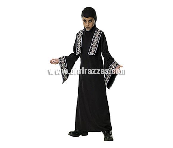 Disfraz de Sacerdote Tenebroso infantil para Halloween. Talla de 5 A 7 años. Incluye túnica con detalles impresos y capucha. De la película THE COVENANT.