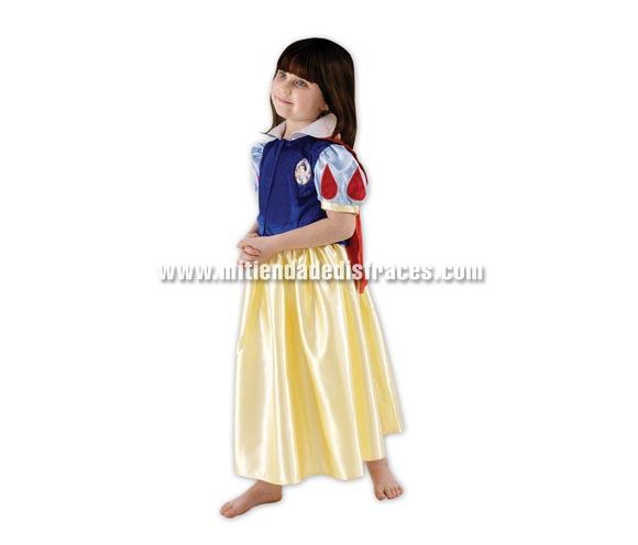 Disfraz de Blancanieves. Talla de 3 a 4 años. Incluye vestido. Disfraz con licencia Disney. Ideal para regalar en Navidad o en cualquier ocasión.