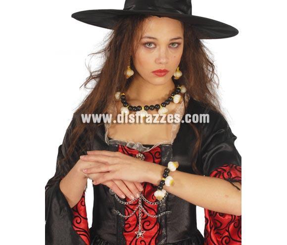Pulsera de Ajos para Halloween. Ideal como complemento de tu disfraz de Bruja para Halloween. El precio es de la pulsera, el collar lo podrás ver con la referencia 16293GUI.