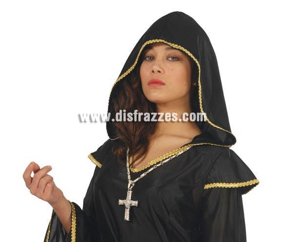 Collar o Colgante Cruz para Halloween o para Carnavales. Ideal como complemento de tu disfraz de Cura o de Monja.