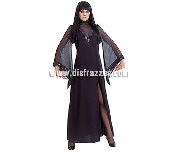 Disfraz de Morgana adulta para Halloween. Talla única. Incluye vestido con mangas en pico y ribeteado con lentejuelas