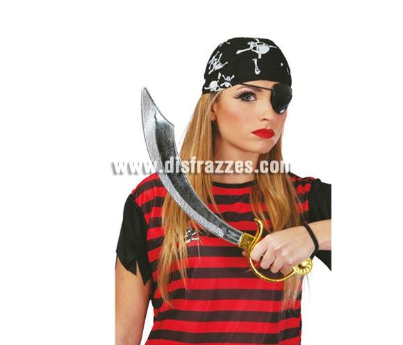 Conjunto de Sable pirata 47 cm. con parche. Ideal como complemento de tu disfraz de Pirata.