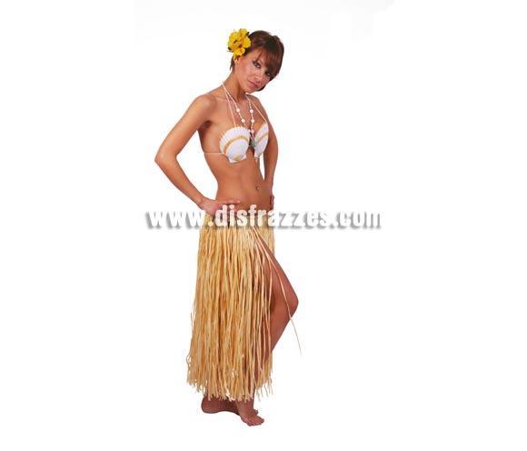 Falda Hawaiana de paja 75 cm. Perfecta para Fiestas de Verano.