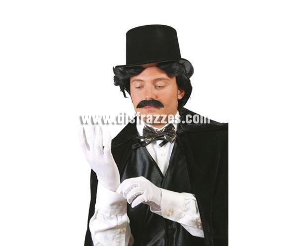 Par de guantes blancos 25 cm. adulto. Perfectos para disfraces de Los Reyes Magos y de los Pajes Reales en Navidad.