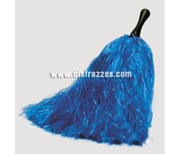 Pom-pom de rafia azul. El complemento ideal para tu disfraz de Animadora.