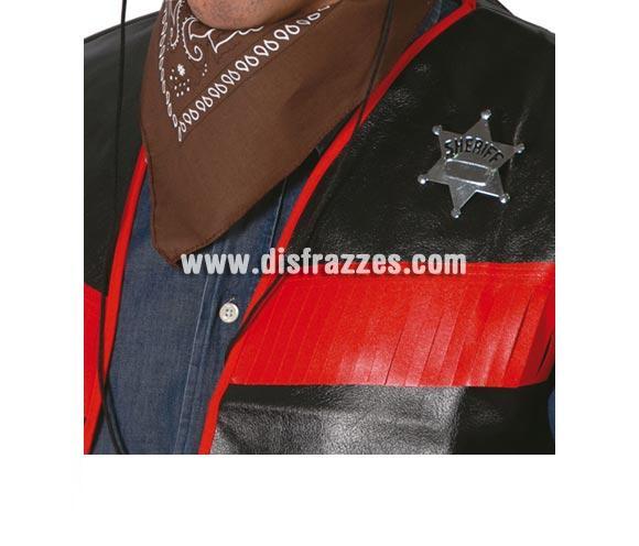 Estrella o Placa de Sheriff del lejano Oeste metálica.