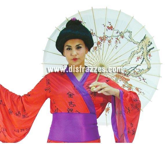 Sombrilla grande de Japonesa o de Geisha de 58x86 cm. También de China.