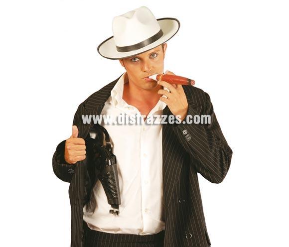 Pistola con sobaquera 40 cm. Perfecta como complementos del disfraz de Ganster y para disfrazarse de Policía Secreta.